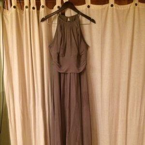 Dressy halter floor length gown